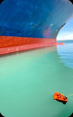 Inspection de coque de bateau-Avec le drone sous-marin Seasam-Notilo Plus